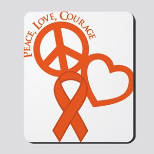 Orange, Courage Mousepad