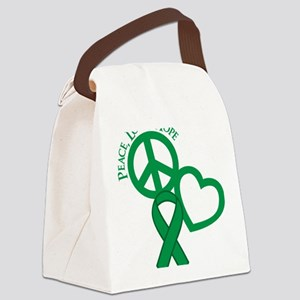 Green, Hope Canvas Lunch Bag