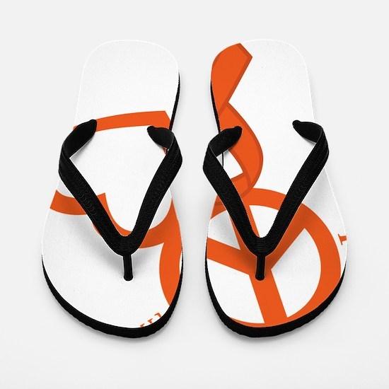 Orange, Hope Flip Flops