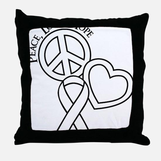 White, Hope Throw Pillow