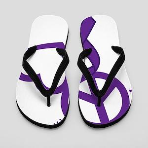 Purple, Hope Flip Flops