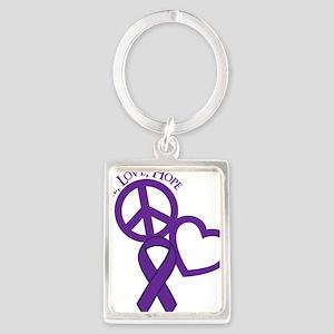 Purple, Hope Portrait Keychain