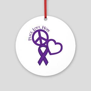 Purple, Hope Round Ornament
