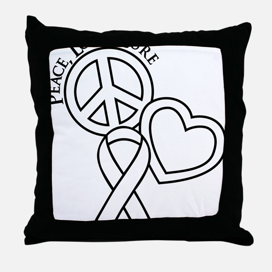 white, Cure Throw Pillow