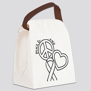 white, Courage Canvas Lunch Bag