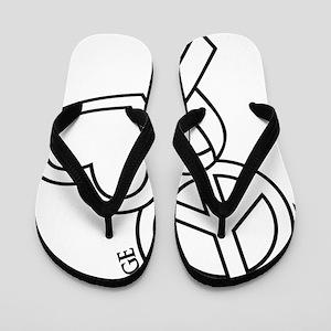 white, Courage Flip Flops