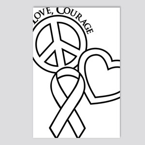 white, Courage Postcards (Package of 8)