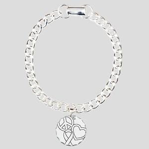 white, Courage Charm Bracelet, One Charm