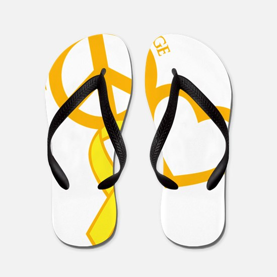 yellow, Courage Flip Flops