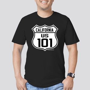 US Route 101 - Califor Men's Fitted T-Shirt (dark)