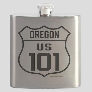 US Highway - Oregon 101 - old Flask