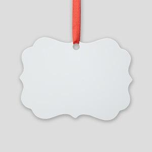 white i love my bongo_horizontal Picture Ornament
