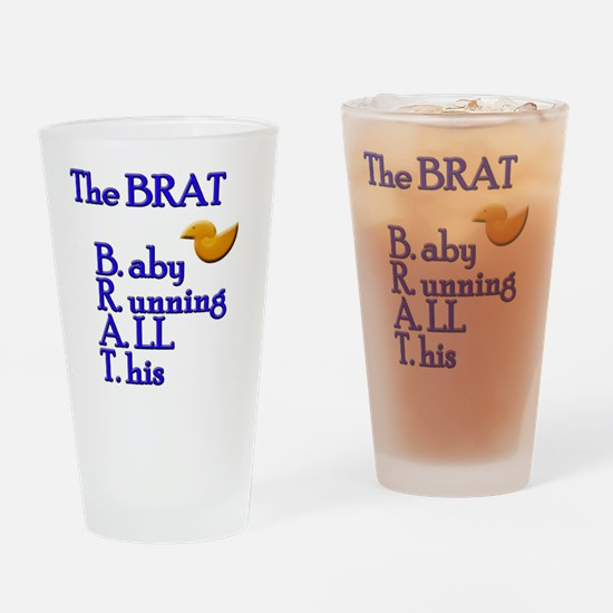BRAT-blu Drinking Glass