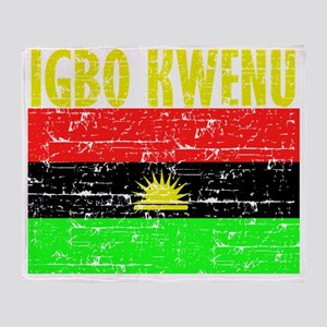 BIAFRA-IGBO1 Throw Blanket