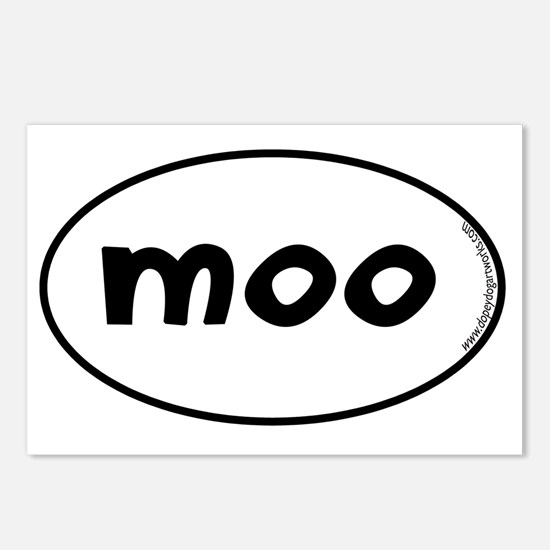 moo-oval Postcards (Package of 8)