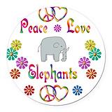 Elephant Round Car Magnets