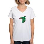 Midrealm Dragon Head Women's V-Neck T-Shirt