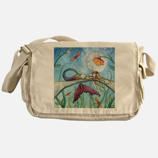 down by the pond cp Messenger Bag