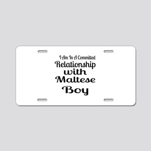 I Am In Relationship With M Aluminum License Plate
