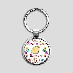 hamster Round Keychain