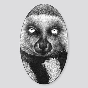 Ring-tailed Lemur (iphone case 2) Sticker (Oval)