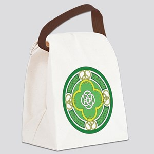 ---with rings green white gold Canvas Lunch Bag
