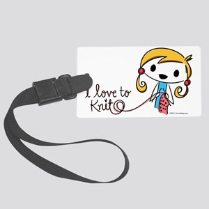 love to knit Large Luggage Tag