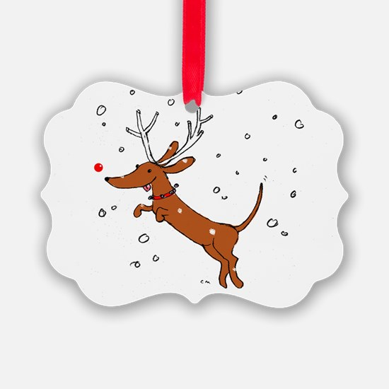 Doxie for T Ornament