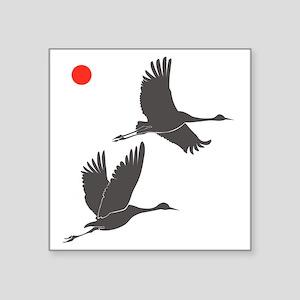 """Soaring Cranes Square Sticker 3"""" x 3"""""""