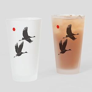 Soaring Cranes Drinking Glass