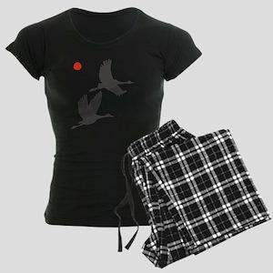 Soaring Cranes Women's Dark Pajamas