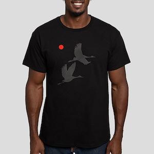 Soaring Cranes Men's Fitted T-Shirt (dark)