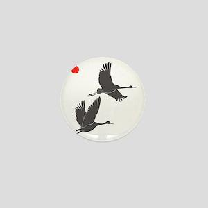 Soaring Cranes Mini Button
