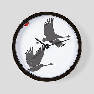 Soaring Cranes Wall Clock