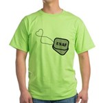 USAF Heart Dog Tags Green T-Shirt