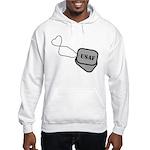 USAF Heart Dog Tags Hooded Sweatshirt