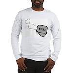 USAF Heart Dog Tags Long Sleeve T-Shirt