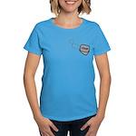 USAF Heart Dog Tags Women's Dark T-Shirt