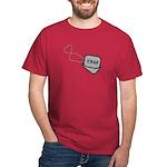 USAF Heart Dog Tags Dark T-Shirt