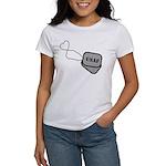 USAF Heart Dog Tags Women's T-Shirt
