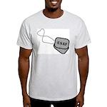 USAF Heart Dog Tags Light T-Shirt