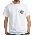 USAF Heart Dog Tags White T-Shirt