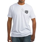 USAF Heart Dog Tags Fitted T-Shirt