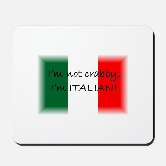 Crabby Italian Mousepad