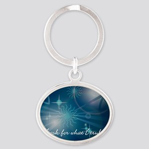 what_i_want-112011 Oval Keychain
