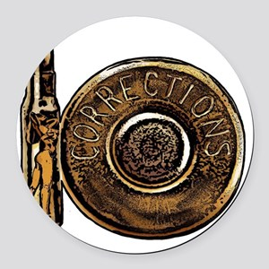 Corrections Bullet Round Car Magnet