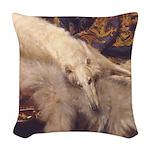 Borzoi Lounging Woven Throw Pillow