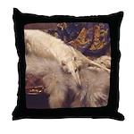 Borzoi Lounging Throw Pillow