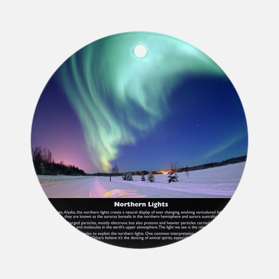 Northern_Lights_full Round Ornament
