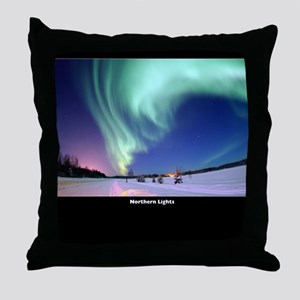 Northern_Lights_no-text Throw Pillow